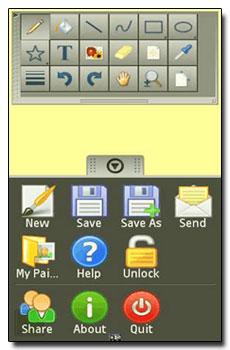 نرم افزار نقاشی در موبایل با MobiVio Solutions HandyPaint lite