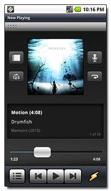 اجرای فایل های صوتی Winamp v0.9.2 Transparent Widget – نرم افزار آندروید