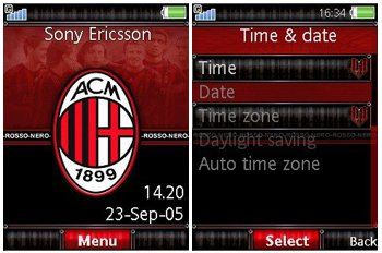 تم بسیار زیبا AC Milan برای گوشی های سونی اریکسون