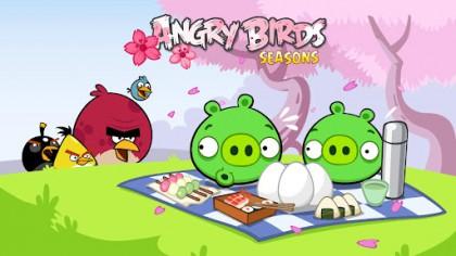 بازی موبایل جشنواره شکوفه های گیلاس Angry Birds Seasons: Cherry Blossom Festival