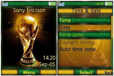 دانلود تم سونی اریکسون جام جهانی – تم Football world cup