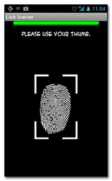نرم افزار اسکن انگشت شما با Luck Scanner v1.0  در آندروید