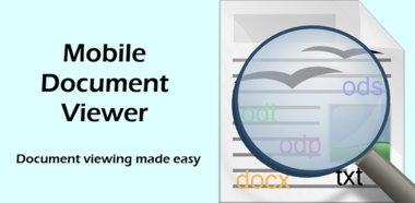دانلود نرم افزار مدیریت اسناد با Mobile Document Viewer (Full) v1.6 برای آندروید
