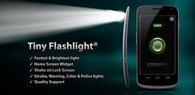 دانلود نرم افزار چراغ قوه Tiny Flashlight + LED v4.3 برای آندروید