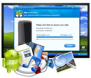 نرم افزار بازیابی اطلاعات در آندروید با Wondershare Android Data Recovery 1.0.0.18