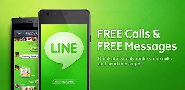نرم افزار آندروید داشتن تماس و sms رایگان با LINE v1.7.3