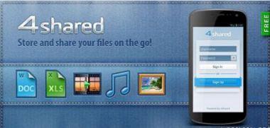 نرم افزار دسترسی به اکانت ۴Shared و دانلود راحت با ۴shared v1.2.1 – اندروید