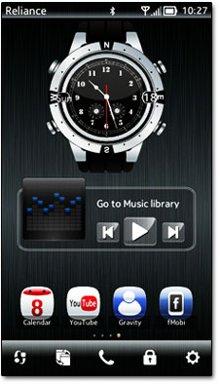 دانلود ساعت انالوگ زیبا Big Analog Clock v2.0 مخصوص سیمبیان ۳ و Anna