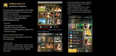 نرم افزار مخفی کردن عکس ها و ویدیو ها Gallery Lock Pro v4.0.3 – اندروید