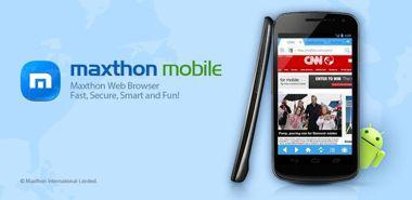 مرور آسان صفحات وب با Maxthon Android Web Browser 4.0.3.1 – اندروید