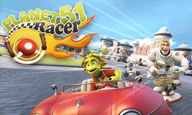 دانلود بازی سرگرم کننده مسابقات اتومبیل رانی Planet 51 Racer – اندروید