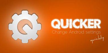 دسترسی آسان و سریع به تنظیمات گوشی با Quicker v1.9.5.1 – اندروید
