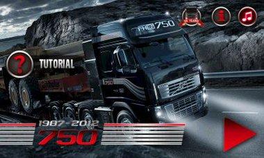 بازی زیبا و سرگرم کننده  رانندگی با کامیون Volvo FH 16 750 – اندروید