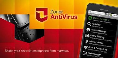 انتی ویروس قدرتمند Zoner AntiVirus Free v1.4.1 برای اندروید