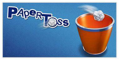 بازی جالب و زیبا پرتاب کاغذ به سطل آشغال Paper Toss v1.0.9 مخصوص اندروید