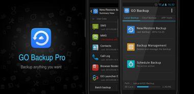 نرم افزار کاربردی تهیه نسخه پشتیبان با GO Backup Pro 3.41 – اندروید