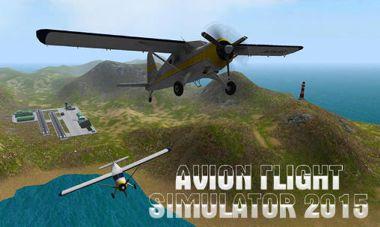 دانلود بازی شبیه ساز پرواز Avion Flight Simulator 2015 v1.06 – اندروید