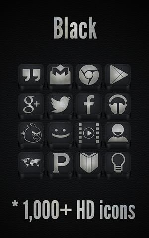 دانلود پک آیکون مشکی Black – Icon Pack v2.2.3 – اندروید