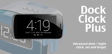 دانلود نرم افزار ساعت رومیزی Dock Clock Plus v3.5 – اندروید