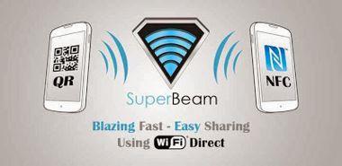 ارسال فایل با SuperBeam WiFi Direct Share Pro v3.0.5 از طریق WiFi  اندروید