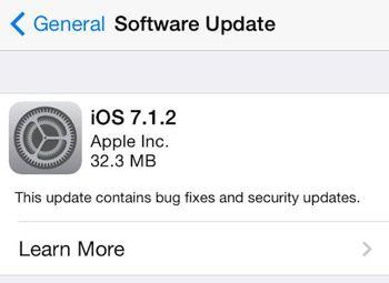 بروز رسانی iOS 7.1.2 عرضه شد